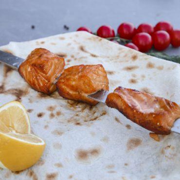 Шашлык с лосося